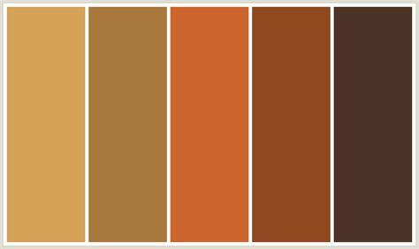 tuscan color palette colorcombo402 with hex colors d4a357 a9783e cd642d