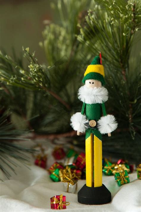 elf ornamentthese   cutest handmade clothespin