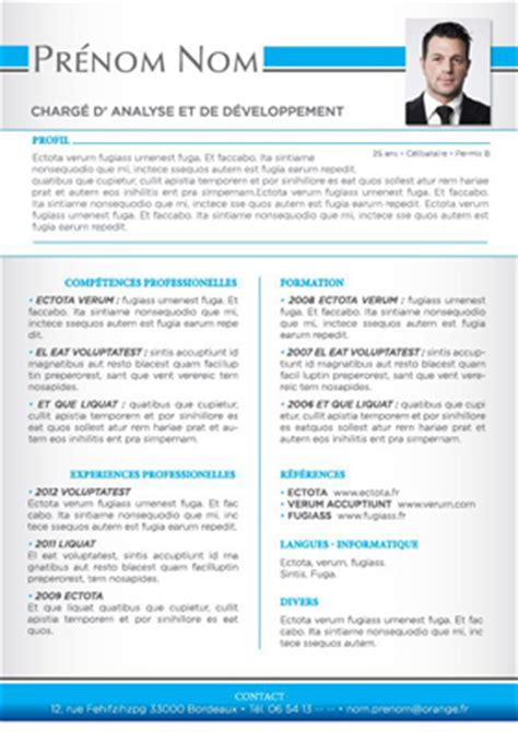 Template Cv Open Office Gratuit Modele Cv Sur Open Office Cv Anonyme