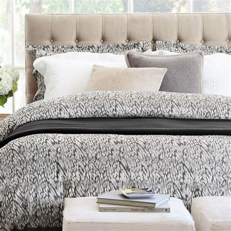sonoma bedding ocelot jacquard bedding brown williams sonoma