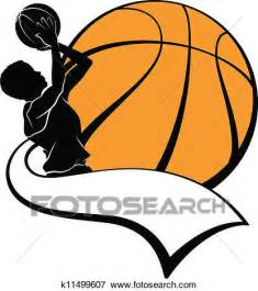 Soccer Wall Mural clip art of boy basketball shooter with pennant k11499607