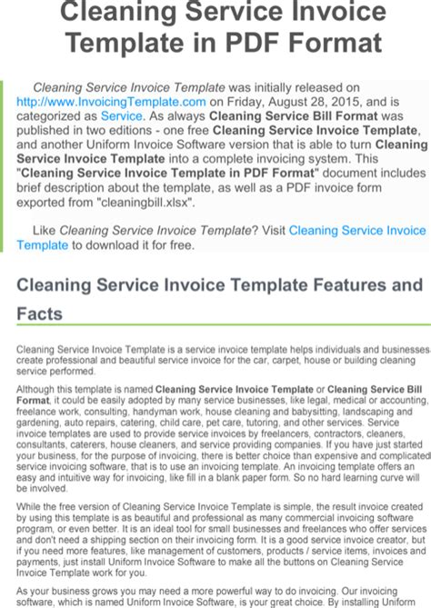 format absensi cleaning service download microsoft invoice template for free formtemplate