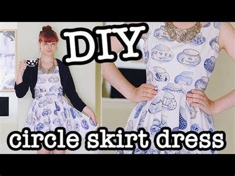 youtube pattern making diy circle skirt dress aka skater dress youtube