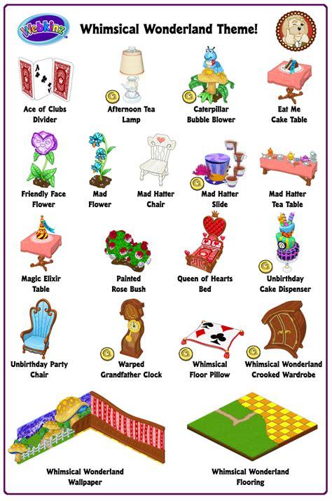 theme item list rare theme showcase whimsical wonderland wkn webkinz newz