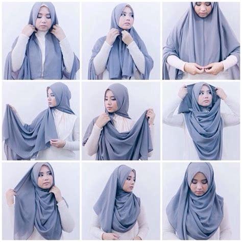 tutorial hijab ke sekolah tutorial hijab simple untuk ke kus kantor dan kuliah
