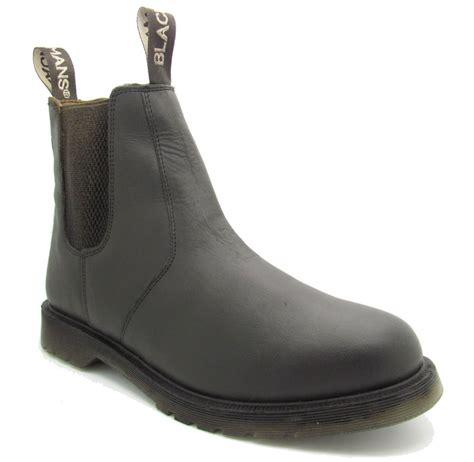 mens brown slip on boots mens dealer dm boots chelsea black brown leather slip on