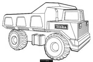 Tonka Dump Truck Printable Coloring Page sketch template