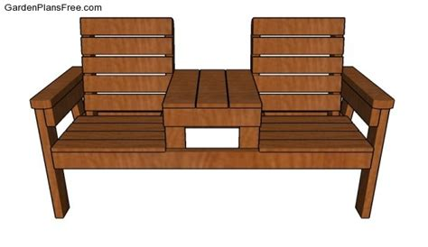 how to make a bench table double chair bench plans free garden plans how to build garden projects