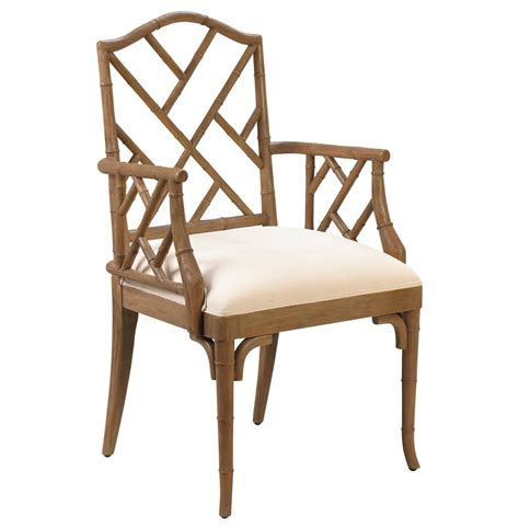 Bamboo Chairs Dining Chippendale Regency Brown Bamboo Dining Arm Chair