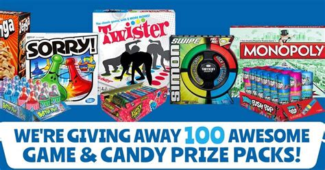 Monopoly Instant Win Prizes - candymania games and candy instant win prize pack giveaway 100 winners grand prize