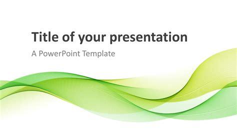 Modern Green Waves Powerpoint Template Presentationgo Com Wave Powerpoint Template