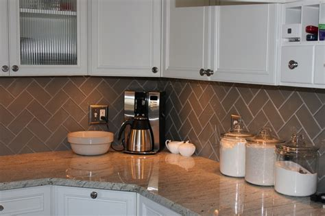 herringbone subway tile backsplash kitchens