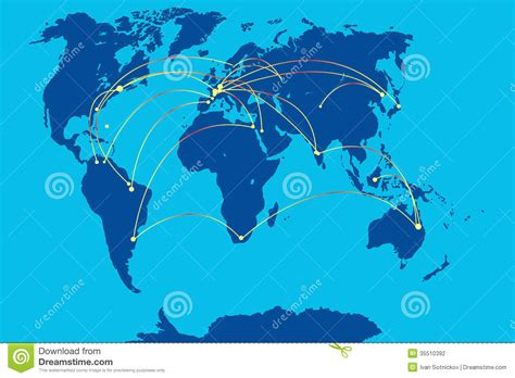 mobile connections mobile connection on map of world stock photography