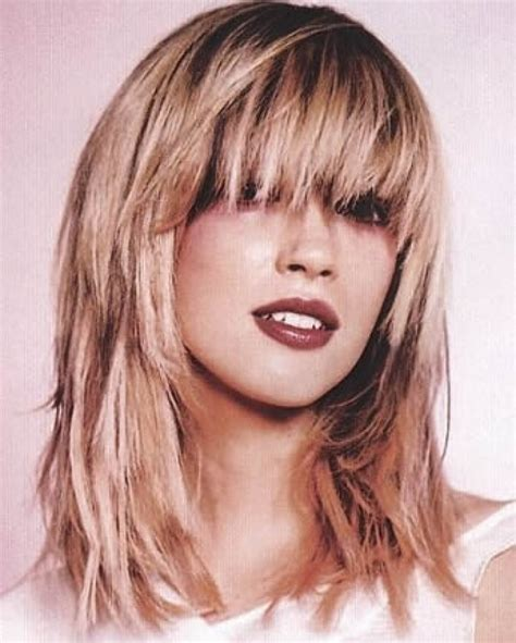 how to cutting bangs in a layered hairstyle 12 long layered haircuts with bangs learn haircuts