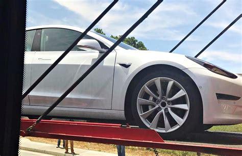 tesla inside roof tesla model 3 roof rack system spotted new car delivered
