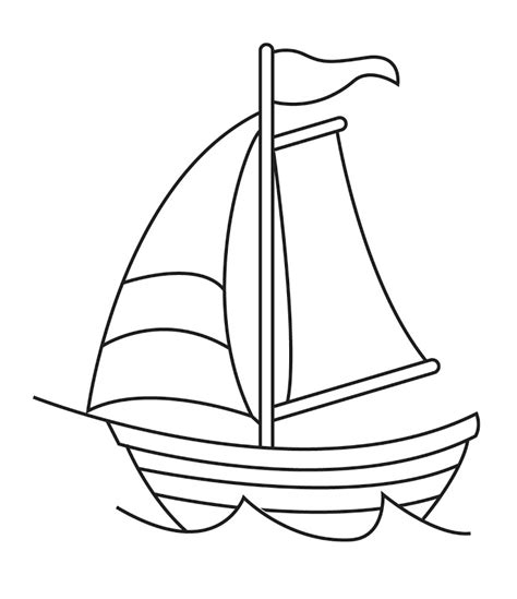 coloring page house boat boat outline clipart clipart suggest