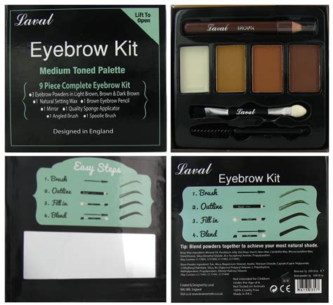 Lava L Kit by Laval Eyebrow Kit Medium Toned Palette