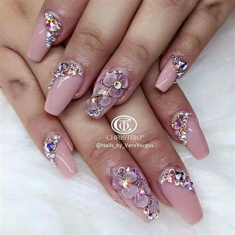 3d Rhinestone Nail Designs