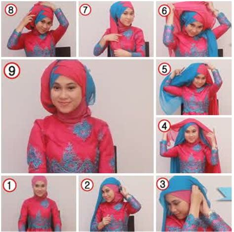 tutorial hijab paris dengan kebaya kreasi tutorial hijab paris dua warna untuk acara wisuda