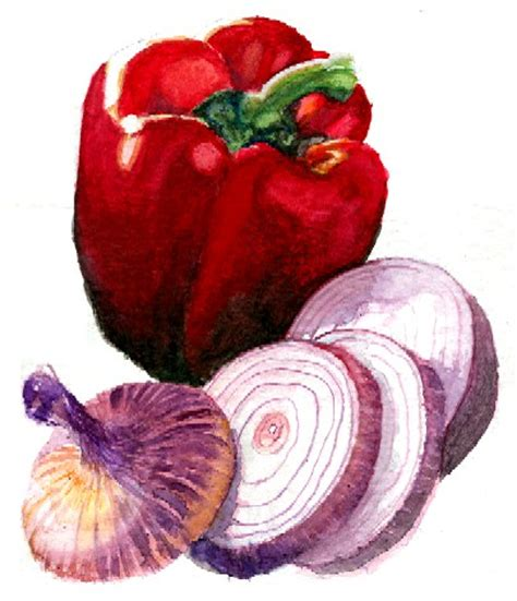 vegetables painting watercolor still vegetables painting