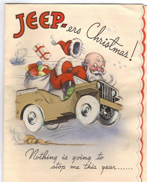 christmas jeep world war ii christmas card santa in the unstoppable ww2