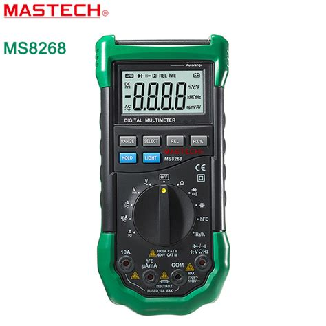Multimeter Digital Mastech mastech ms8268 digital multimeter auto range protection ac dc ammeter voltmeter ohm frequency