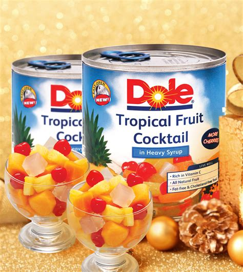Tropical Fruit Cocktail Dole healthy decisions this 2014 is made a lot easier with dole