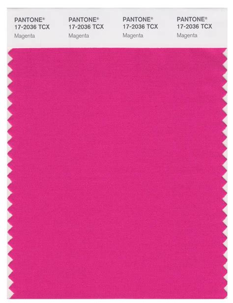 pantone smart   tcx color swatch card magenta