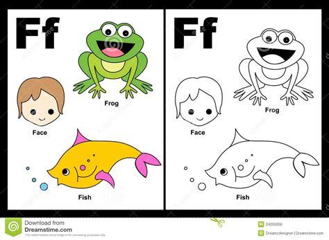 imagenes que comiencen con la letra f hoja de trabajo de la letra f ilustraci 243 n del vector