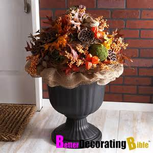 fall decoration fall urn decorating ideas decoration