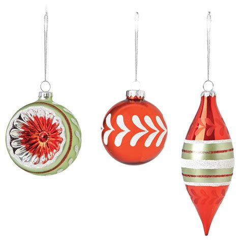 martha stewart white christmas ornaments martha stewart living 3 25 vintage style ornaments set of 12 9735900110 the home depot