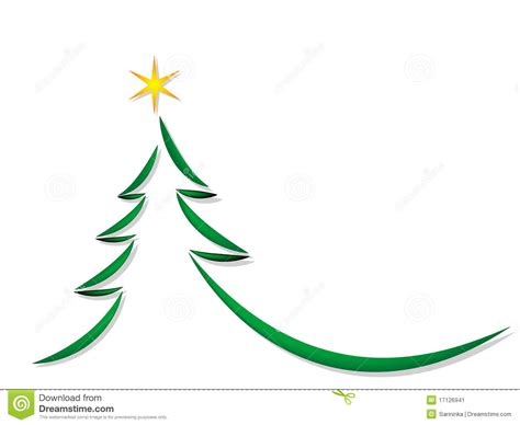 simple christmas tree stock image image 17126941