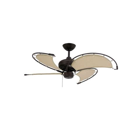 ceiling fans with fabric blades troposair voyage 40 in indoor outdoor oil rubbed bronze
