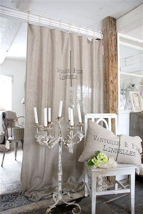 blue burlap curtains 25 ways to use curtains as space dividers digsdigs