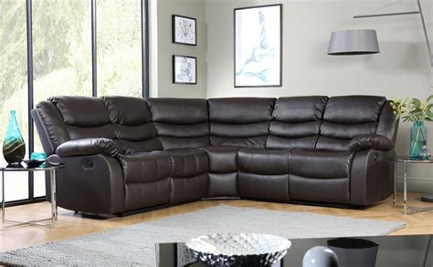 Cheap Leather Corner Sofas For Sale Sorrento Leather Recliner Corner Sofa Brown Only 163 899 99