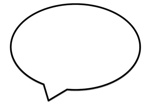 speech bubble printable clipart best