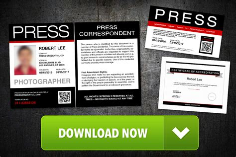 free press pass template launched by press credential