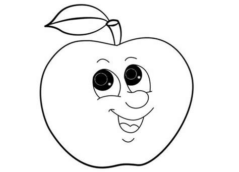 imagenes para colorear una manzana manzana con cara para colorear e imprimir
