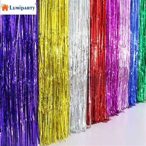 mylar fringe curtain lumiparty metallic fringe curtain party foil tinsel home