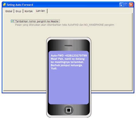 auto forwarding program sms auto forward sms meneruskan sms otomatis sms center