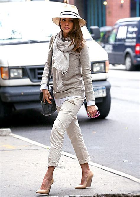 The Look For Less Alba by For A Fraction Alba S Neutral Layered Look In