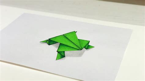 Drawing Origami - 3d drawing origami frog tutorial trick my crafts