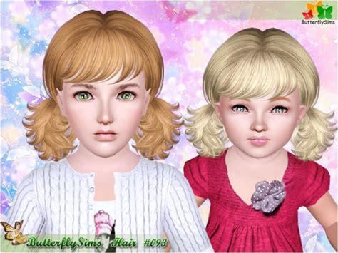 sims 3 pigtails with bangs two messy pigtails with bangs 093 by butterfly sims 3 hairs