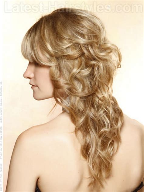 long curly formal hairstyles long curly prom hairstyles