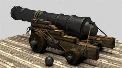 pirate cannon 3d model max cgtrader com