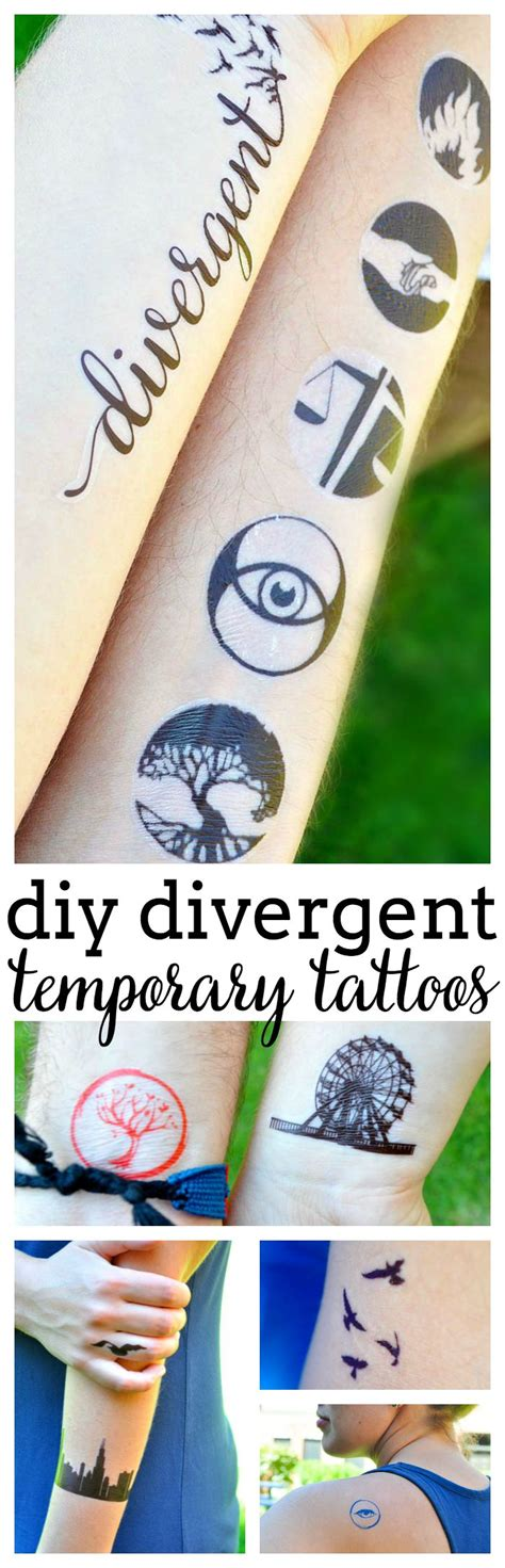 divergent temporary tattoos how to make temporary tattoos for divergent the nerds