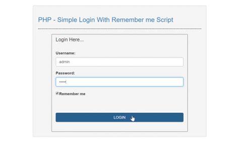membuat form login menggunakan php mysql dengan mudah membuat form login dengan fitur remember me php mysql