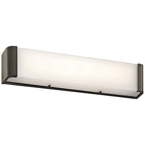 landi led linear bath wall light by kichler ylighting kichler landi 24 quot w olde bronze 2 light led linear bath