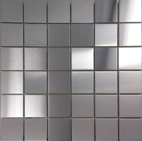 brush silver metallic mosaic wall tiles backsplash smmt030