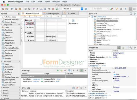 swing gui designer jformdesigner java swing gui designer formdev